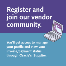 Register and join our vendor community